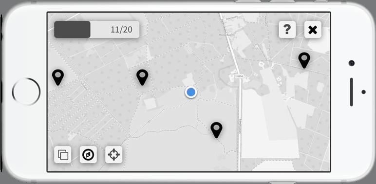 Voorbeeldscherm uit prototype app