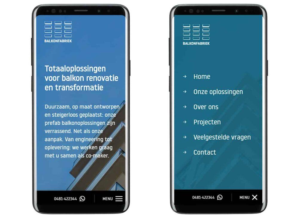 Mobiel menu Balkonfabriek