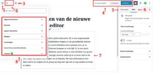 Gutenberg voor beginners, de editor uitgelegd!