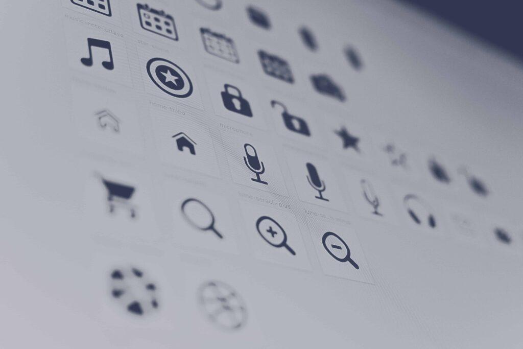 iconen en labels